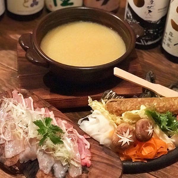 《日本酒飲み放題付!》名物つくねとお鍋が堪能できる『白鍋コース』6100円→5600円