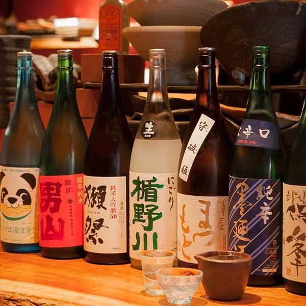 【地酒飲み放題付!!】酒好きの酒飲みのための『酒飲みコース』全7品 5100円