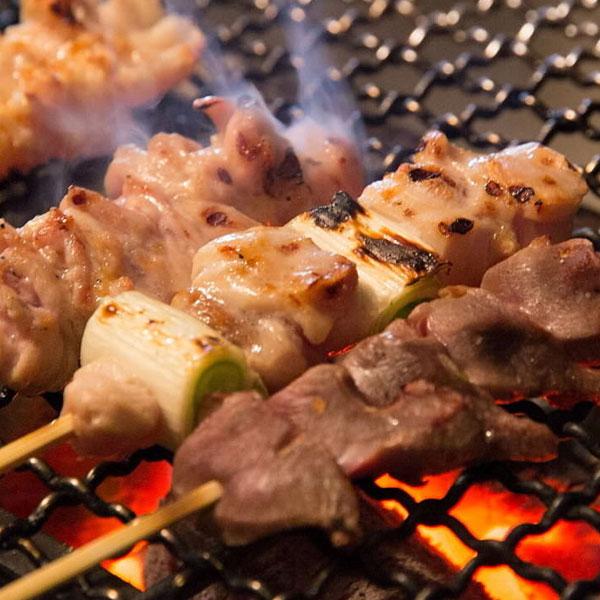 福岡八女炭蘇鶏 おまかせ串焼五種盛